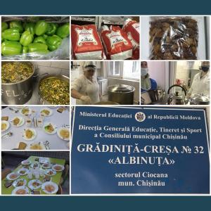 Instituția de Educație Timpurie nr.32 este aprovizionata cu o varietate de produse alimentare de calitate foarte buna!