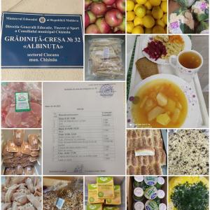 """Alimentația copiilor  în IET nr.32 """"Albinuța"""""""